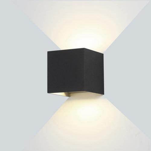 Fekete fali lámpa, 230V, 6W, 660LM, 3000K - IP54 (WL7452)