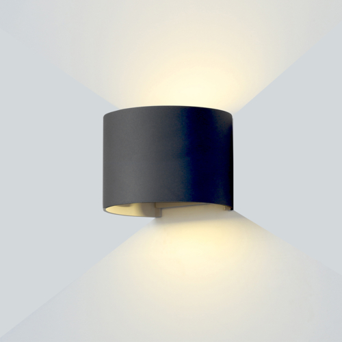 Fekete fali lámpa, 230V, 6W, 660LM, 3000K - IP54 (WL7464)