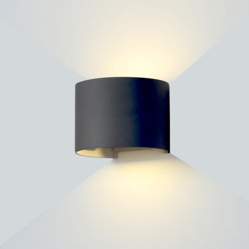 Fekete fali lámpa, 230V, 6W, 660LM, 4000K - IP54 (WL7467)