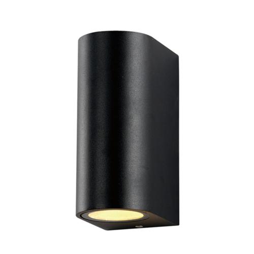 Fekete fali lámpa, alumínium, 2 x GU10-es foglalattal, 230V, IP54 (WL7437)