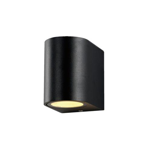 Fekete fali lámpa, alumínium, GU10-es foglalattal, 230V, IP54 (WL7431)
