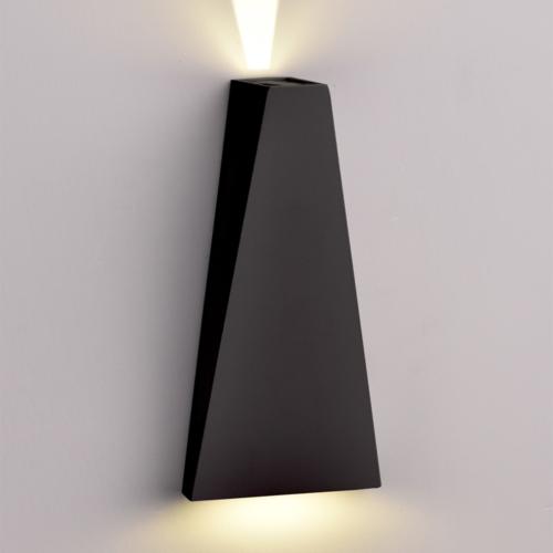 Fekete fali lámpa, CREE 230V, 6W, 660LM, 3000K - IP54 (WL7470)