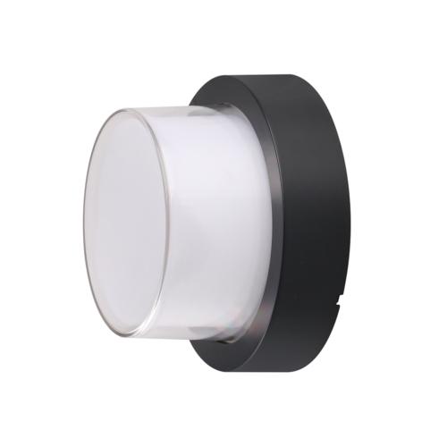 Fekete fali lámpa, kerek, 15W, 230V, 1000LM, IP65, 3000K (WL7532)
