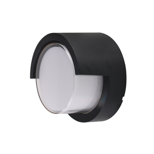 Fekete fali lámpa, kerek, 15W, 230V, 750LM, IP65, 4200K (WL7529)