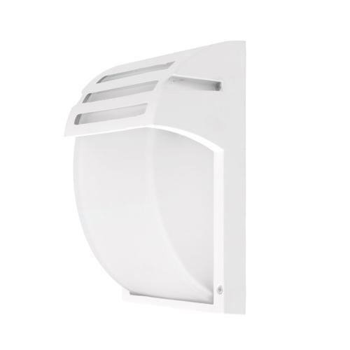 Matt fehér fali lámpa, alumínium, 1xE27, IP44 (WL7402)