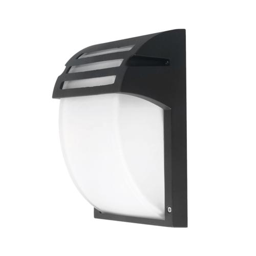 Matt fekete fali lámpa, alumínium, 1xE27, IP44 (WL7401)