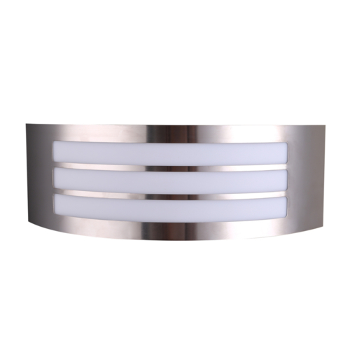 Rozsdamentes acél fali lámpa, alumínium, 1xE27, IP44 (WL7422)