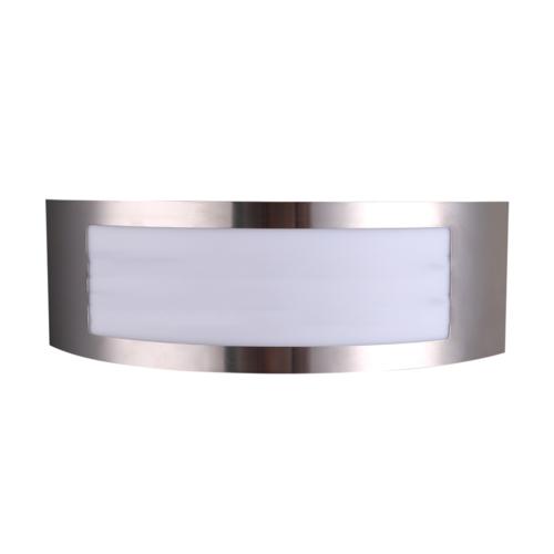 Rozsdamentes acél fali lámpa, alumínium, 1xE27, IP44 (WL7423)