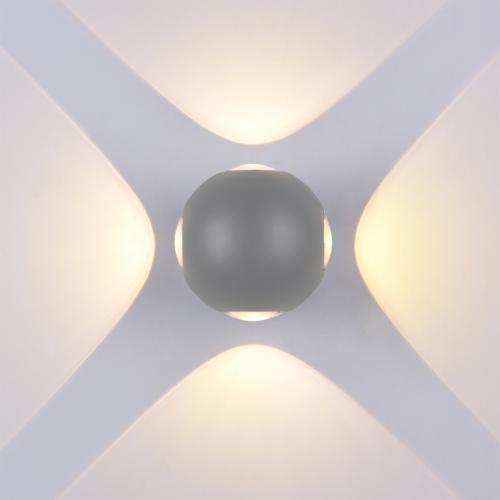 Szürke fali lámpa, 230V, 4W, 440LM, 3000K, CREE - IP54 (WL7489)