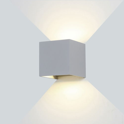 Szürke fali lámpa, 230V, 6W, 660LM, 3000K - IP54 (WL7453)