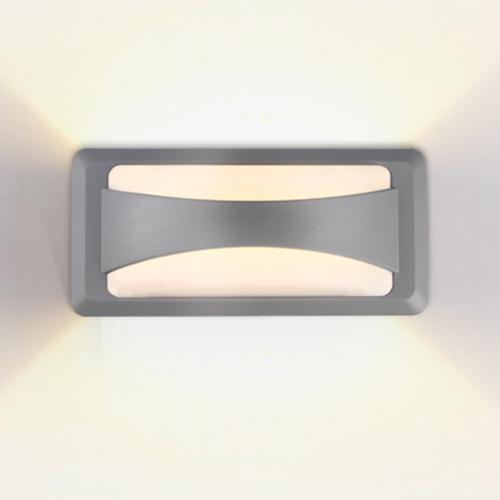 Szürke LED fali lámpa, 12W, 230V, 500LM, IP65, 3000K (WL7526)