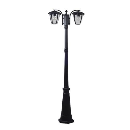Álló kerti lámpa POLE, matt fekete, 200 cm, alumínium, 2xE27 (GD9313)