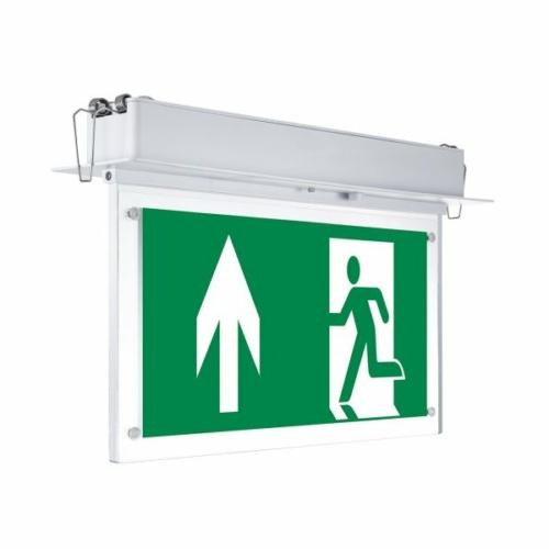 LED vészkijárat jelző, 3 óra, piktogramokkal, fali (WW7206)