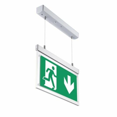 LED vészkijárat jelző, 3 óra, piktogramokkal, függeszthető (WW7204)
