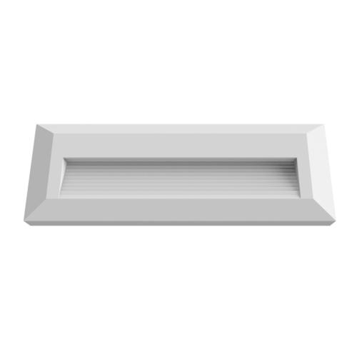 LED lépcső világítás, téglalap, fehér, 3W, 3000K, 100LM, 230V, IP65 (WL7517)