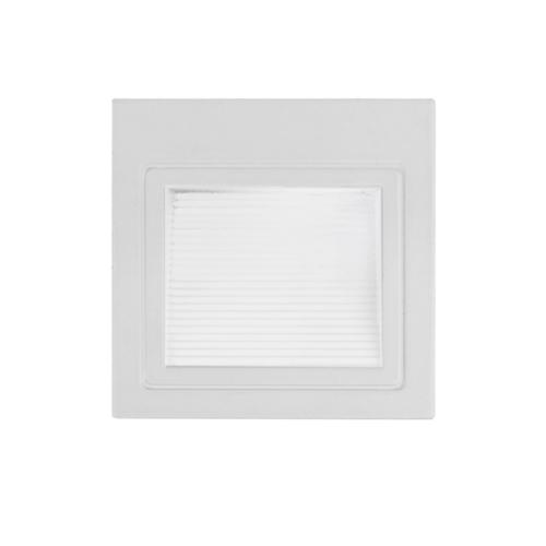 LED lépcső világítás, téglalap, fehér, 3W, 4200K, 195LM, 230V, IP20 (WL7521)