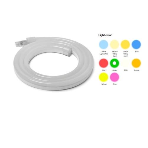 LED flexibilis szalag, 80 SMD/m, 12x24mm, 230V, zöld fény (ST4585)