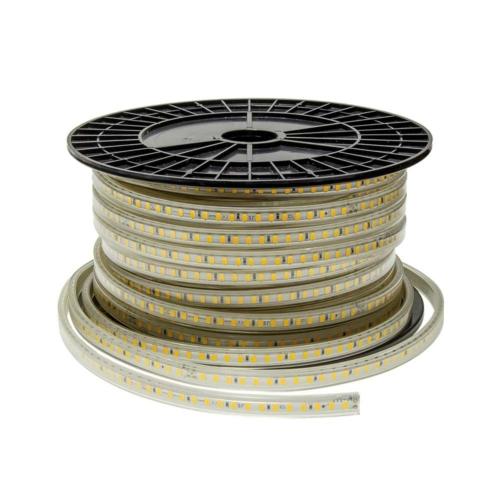 LED szalag 5730, 120SMD/m, 220V,meleg fehér fény - IP65 (ST4612)
