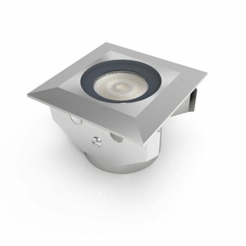LED padlóba építhető spot, irányított fény, 1,3W, 24VDC, IP68, meleg fény (DL0593)