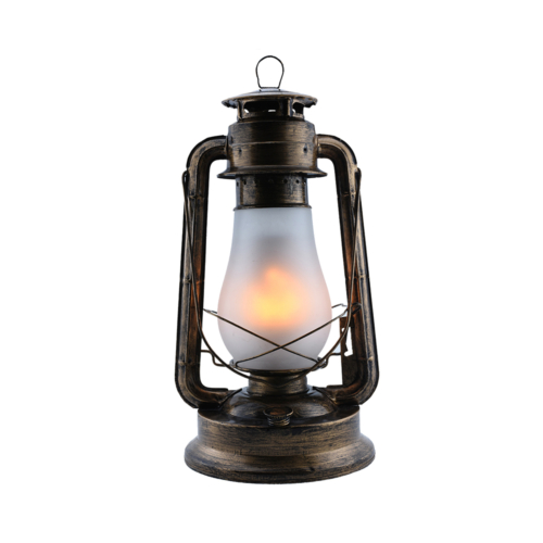 LED viharlámpa, 5W, SMD, 230V, bronz, akkumulátoros (PD9042)