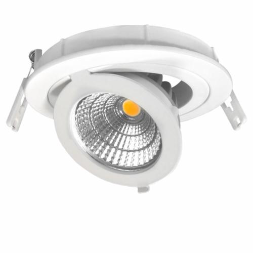 LED süllyeszthető spotlámpa, 12W, COB, kerek, állítható, meleg fehér fény (CB3253)