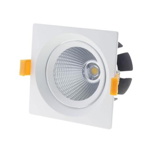 LED süllyeszthető spotlámpa, 15W, COB, négyszögletes, billenthető, semleges fehér fény (CB3233)