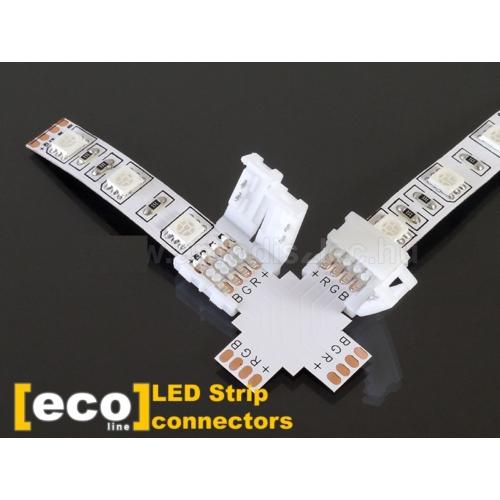 PCB elosztó elem (L,T,X irányú), 5050-es RGB LED szalaghoz (8115)
