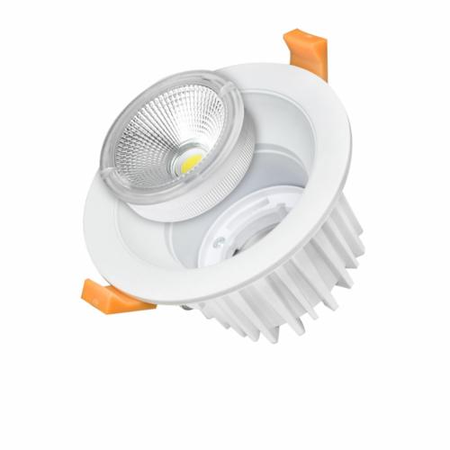 LED süllyeszthető spotlámpa, 35W, COB, kerek, cserélhető, hideg fehér fény (CB3243)