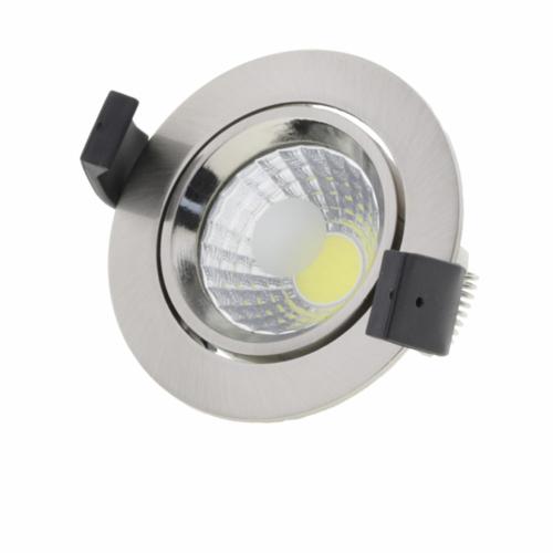 LED süllyeszthető spotlámpa, 8W, COB, kerek, billenthető, inox, fehér fény (CB3203)