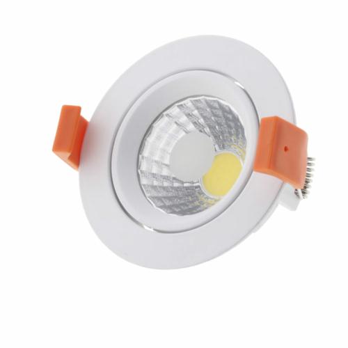 LED süllyeszthető spotlámpa, 8W, COB, kerek, billenthető, semleges fehér fény (CB3206)