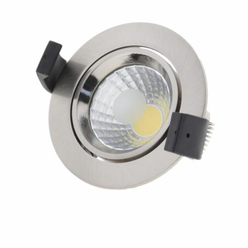 LED süllyeszthető spotlámpa, 8W, COB, kerek, billenthető, inox, semleges fehér fény (CB3205)