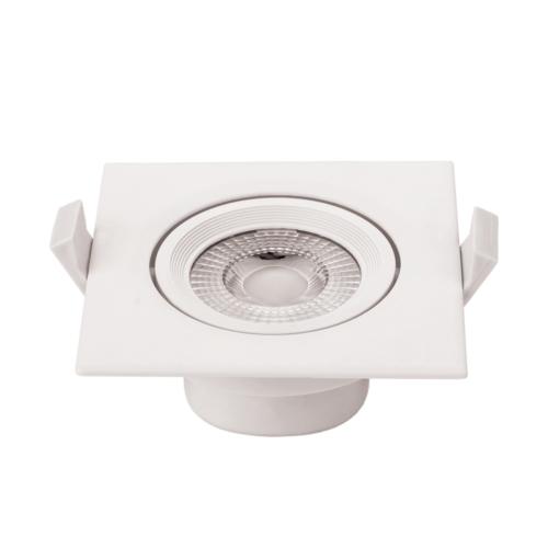 LED süllyeszthető spotlámpa,7W, COB,négyzet,billenthető, meleg fehér fény, 525LM (CB3289)