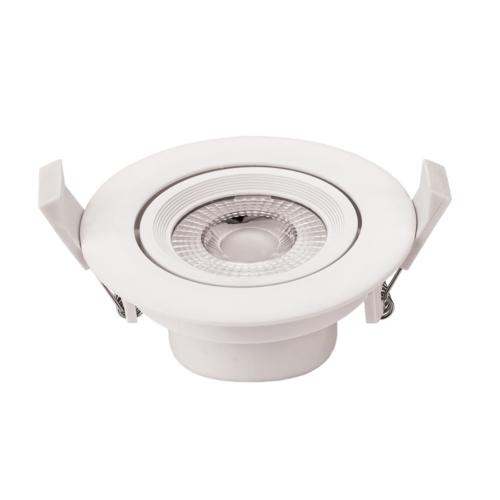 LED süllyeszthető spotlámpa,7W, COB,kerek,billenthető, meleg fehér fény, 525LM (CB3286)