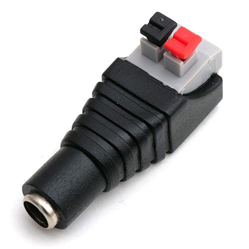LED DC sorkapocs átalakító, nyomógombos, 2.1x5.5 mm, ANYA (24377)