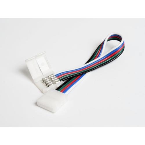 LED Forrasztásmentes sarokelem RGBW LED szalagok toldásához, 12 mm, 5 eres (21125)