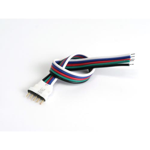 LED Forrasztható 5 tüskés RGBW csatlakozó, 15cm vezetékkel (22982)