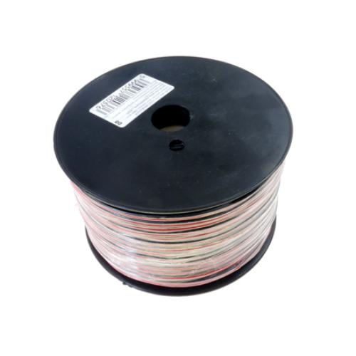 Vezeték LED szalaghoz, piros/fekete, 2x0.35 mm2, 100 méter (6460)