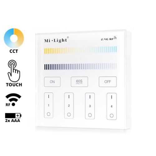 Group Control CCT Fali LED színhőmérséklet szabályzó panel, B2, elemes (16369)