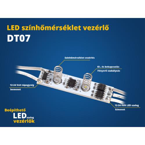 LED Beépíthető LED vezérlő (DT07) érintős színhőmérséklet vezérő CCT (22633)