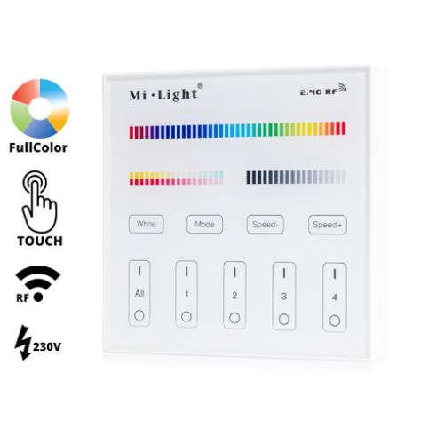 Group Control RGB+CCT Fali FullColor szabályzó panel, T4: 230V (16376)