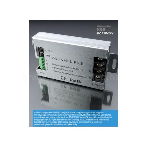 Jelerősítő RGB LED szalaghoz, 360/720W (11084)