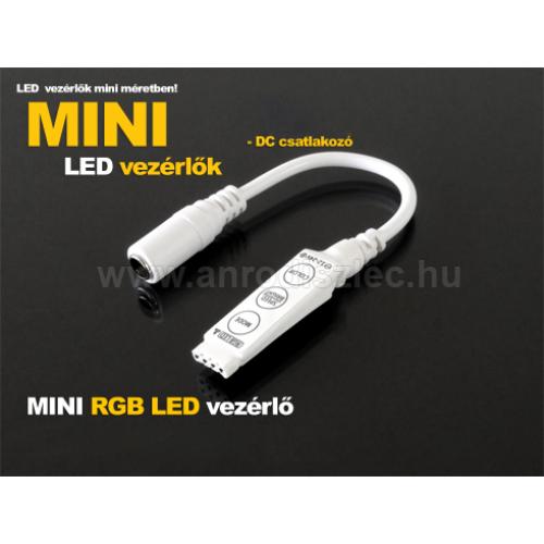 LED Mini RGB LED vezérlő - nyomógombos - (5-24V) 15/72W (7930)