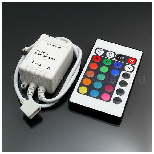 LED RGB vezérlő - Infravörös, 24 gombos (72W) (3873)