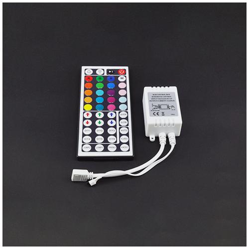 LED RGB vezérlő - Infravörös, 44 gombos (72W) (19621)