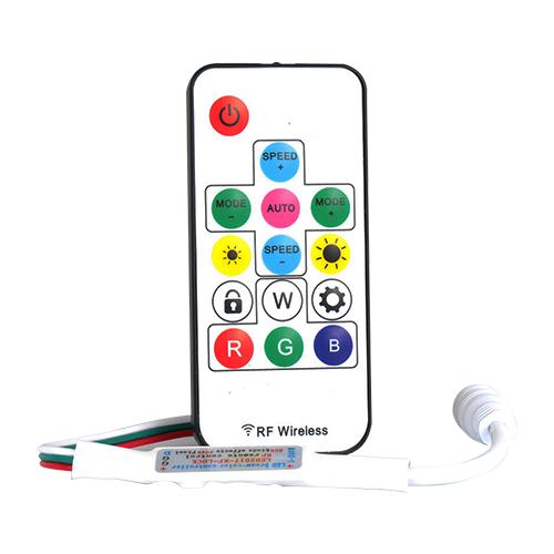 LED RGB vezérlő és távirányító digitális (DRGB) LED szalaghoz, futófény (23691)
