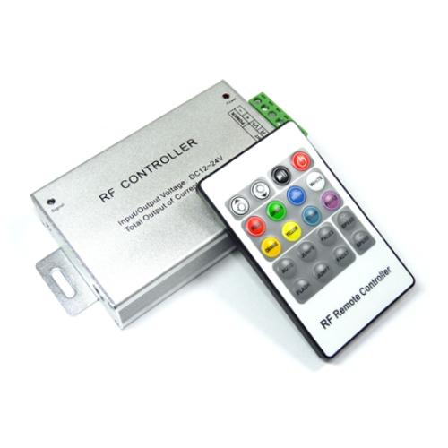 RGB vezérlő - Rádiós - 144W (20 gombos távirányítóval) (4282)
