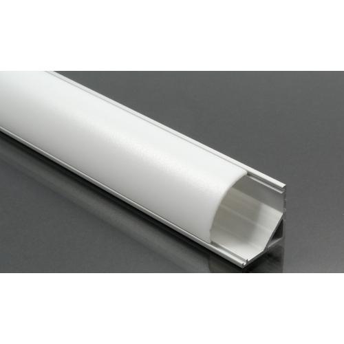 LED Profiles ALP-006 Aluminium sarok profil ezüst, LED szalaghoz, opál burával (6882)