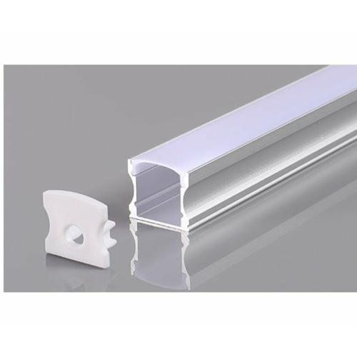 LED szalaghoz alumínium profil 17,2*14,4*12mm - 2m - szürke (OT5175)