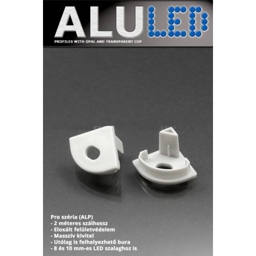 LED Profiles ALP-006 Véglezáró alumínium LED profilhoz, szürke (6886)