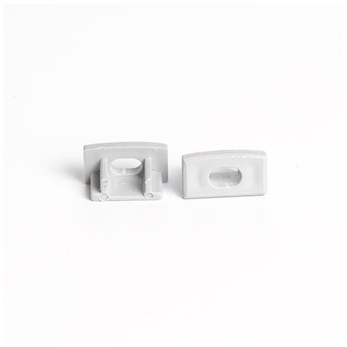 RS - MINI-01-A Alumínium U profilhoz végzáró elem furattal, műanyag, szürke (13719)